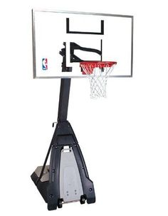 "Spalding NBA ""The Beast"" Portable Basketball System - 60"" Glass Backboard #Spalding"