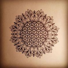 Sunflower tattoos, Flower of life and Geometry on Pinterest