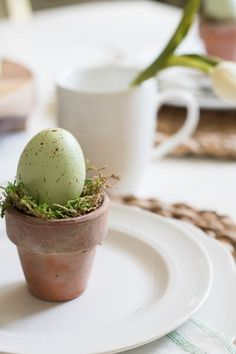 Easy DIY rustic pastel egg pot farmhouse table setting Easter decorations for the home. The Best Easy DIY Easter Decoration Ideas. Very elegant shabby chic ideas for an Easter dinner party. Easter Lunch, Hoppy Easter, Easter Dinner, Easter Party, Easter Eggs, Easter 2018, Easter Gift, Easter Table Settings, Easter Table Decorations