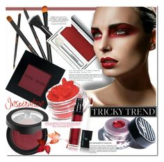 """""""Tricky Trend: Red Eye Makeup"""" by huda-alalawi ❤ liked on Polyvore featuring beauty, Bobbi Brown Cosmetics, Clinique, Kat Von D, Vincent Longo, Ardency Inn, contest, polyvoreeditorial, polyvorecontest and redeye"""