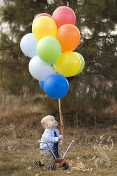 Love the balloons - 1st bday pics from Sarah Nicole Photography
