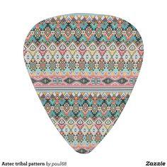 Aztec tribal pattern guitar pick