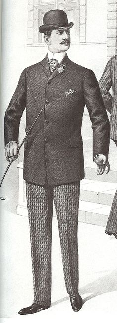 Mens Edwardian Gent Costume Historical Era Victorian 1900s 1910s King Edward VII