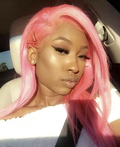 Pink Frontal Sew In Sew In Hairstyles, Woman Hairstyles, Frontals Sew In, Color Psychology, Sewing, Hair Styles, Pink, Women, Rose