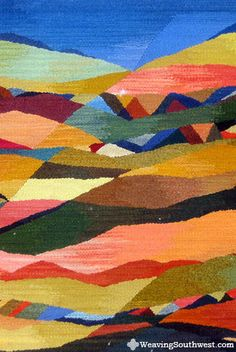 """Your Daily Dose of Inspiration! Mountain Splendor, original handwoven tapestry by Robin Reider, 34"""" x 46"""", naturally hand-dyed wool, 2011"""