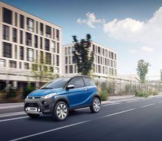 Das neue Mopedauto von Aixam in saphirblau. Crossover, Models, Roadtrip, Autos, City, Audio Crossover, Templates, Modeling