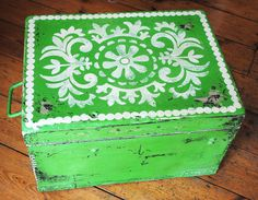 Antibes Green Chalk Painted Chest