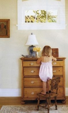 great dresser, great little chair! what I wish my house looked like. (scratch that) what my interior WILL look like!  rustic rooster interiors