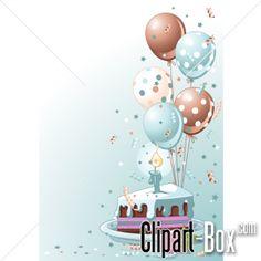 CLIPART BIRTHDAY CAKE CARD