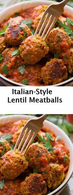 Italian-Style Lentil Meatballs #Italian-Style #Lentil #Meatballs - My Kitchen