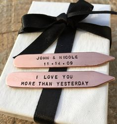Personalized Collar Stays  Custom Collar Stays by hjvdesigns