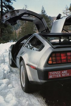 DeLorean Motor Co. 1975-1982                    The bumper sticker pokes fun at the cocaine scandal associated with the car company.