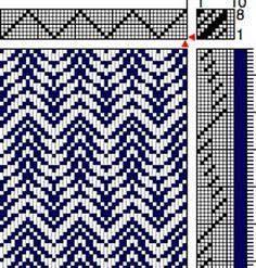 Image result for weaving drafts for 4 shaft looms