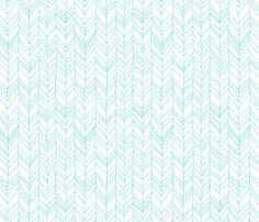 Featherland Mint fabric by leanne on Spoonflower - custom fabric
