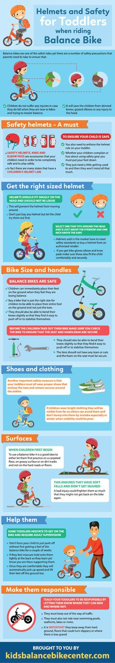 Helmets and Safety for Toddlers when riding Balance Bike