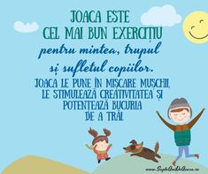 #Parenting #citate #copii #joacă #dezvoltare #SapteAniDeAcasaRo Emotional Intelligence, Kids Education, Toddler Activities, Teacher Resources, Kids And Parenting, Motto, Montessori, Preschool, Family Guy