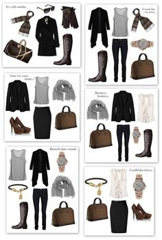 Weekend get-away outfits - so cute and I love the sleeveless styles are good for miami. The cardigans and trench coats make the outfit suit the weather.