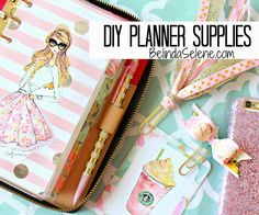 DIY Planner Supplies: Journaling Cards, Bow Paper Clips, Tassel Page Markers. #planningWithBelindaGiveaway
