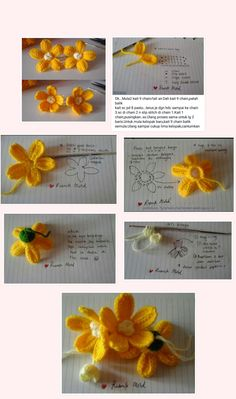 Orchid, Moth (Phal) pattern by Happy Patty Crochet Crochet Girls, Diy Crochet, Crochet Crafts, Crochet Projects, Crochet Leaves, Knitted Flowers, Crochet Flower Tutorial, Crochet Flower Patterns, Flower Crafts