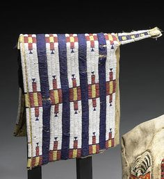 An Arapaho beaded cradle cover