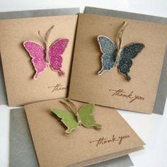 Thank you card - Butterfly #papercraft #handmade