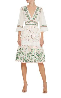 June Embroidered Cotton Dress by SALONI Now Available on Moda Operandi