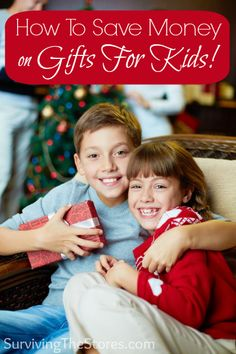 Ways to save money on kids gifts this year.  Buying for kids does not have to cost an arm and a leg!