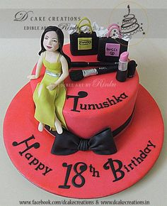Born to shop and dress up theme designer cake for 18th Birthday Party