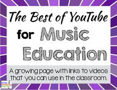 Tons of great music videos that explain different musical concepts from dynamics and tempo to instruments and form! Growing list!