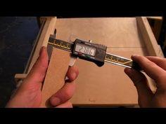 Table Saw Sledge Accuracy Test - Five Cut Method