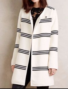 Anthropologie Riband Car Coat by Cartonnier $248 Sz S - NWT #Anthropologie #BasicCoat