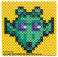 Greedo perler bead cross stitch