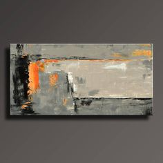 ABSTRACT PAINTING BLACK GRAY ORANGE PAINTING LARGE MODERN WALL ART ORIGINAL CONTEMPORARY CANVAS ART ACRYLIC PAINTING HOME DECOR  To see details of the painting, please click ZOOM to enlarge the images.   This is an original acrylic painting on UNSTRETCHED canvas.  This will ship direct from my studio. To protect painting well during international shipping, all paintings are ROLLED(Unframed/Not stretched) and shipped in a quality hard cardboard tube to avoid damages, it's 100% safe and pa...
