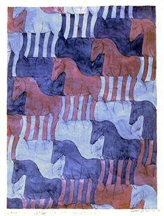 M.C. Escher – Horse (No. 8) 1937-1938 Pencil, watercolor.