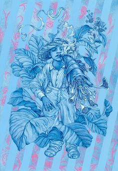 "James Jean // Tobacco. Mixed Media on Paper, 30 x 41"", 2015."