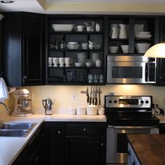 Black Painted Kitchen Cabinets Design, Pictures, Remodel, Decor and Ideas - page 3