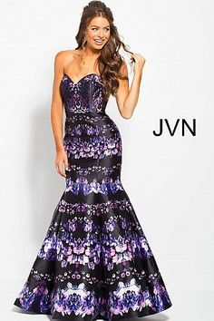 Black Multi Strapless Sweetheart Neck Mermaid Prom Dress JVN58400   PromDress  Prom2018  JVN Prom f603883e70f6