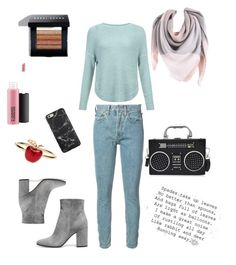 """basic of lotte"" by kensho-koster ❤ liked on Polyvore featuring JDY, RE/DONE, Alison Lou and Bobbi Brown Cosmetics"