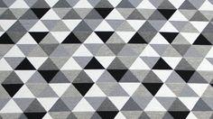 Canvas gemustert -  Dreiecke Hellgrau