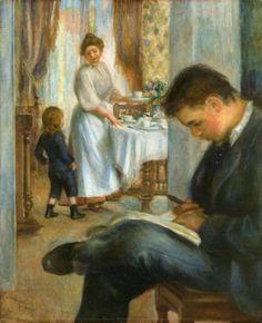 Breakfast at Berneval by Pierre Auguste Renoir #art