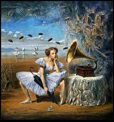 """Illusion Art : Michael Cheval is the world's leading contemporary artist, specializing in Absurdist paintings, drawings and portraits. In his definition, """"absurdity"""" is an inverted side or Illusion Kunst, Illusion Art, Surrealism Painting, Pop Surrealism, Art Visionnaire, Illusion Paintings, Magic Realism, Visionary Art, Wassily Kandinsky"""