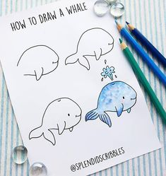 If you're starting an ocean theme in your bullet journal, you need to check out these adorable step by step doodles for inspiration to get going! Bullet Journal Themes, Bullet Journal Art, Bullet Journal Aesthetic, Bullet Journal Inspiration, Bullet Journals, Easy Doodles Drawings, Easy Doodle Art, Cute Easy Drawings, Doodles How To