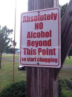 Start chugging.