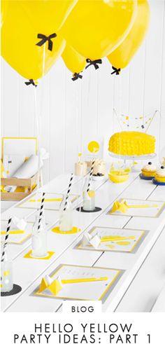 Hello Yellow Party Ideas: Part 1