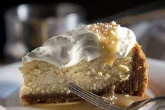 SALTED CARAMEL VANILLA CHEESECAKE  You will need to use a different crust.