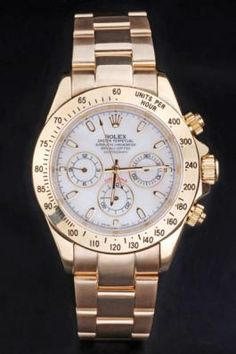 Rolex Daytona Mechanism Golden Bezel White 38mm Watch
