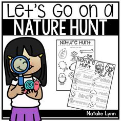 Nature Hunt by Natalie Lynn Kindergarten Nature Hunt, Nature Study, Pre K Activities, Preschool Activities, Outdoor Activities, Home Learning, Fun Learning, Head Start Preschool, Kindergarten Science