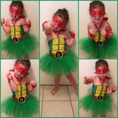 57 best girl ninja turtle costume images on pinterest costumes homemade ninja turtle costume for little girl solutioingenieria Image collections