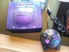 Sega Saturn Nights Design console #retrogaming #HotSS Custom console. I like the 3D control Pad but not really the console. BIN auction from Germany.