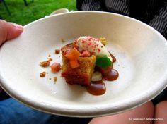 Ravintola Juuri: Suola-karamellikakkua, raparperia ja mäntykinuskia / Taste of Helsinki 2013